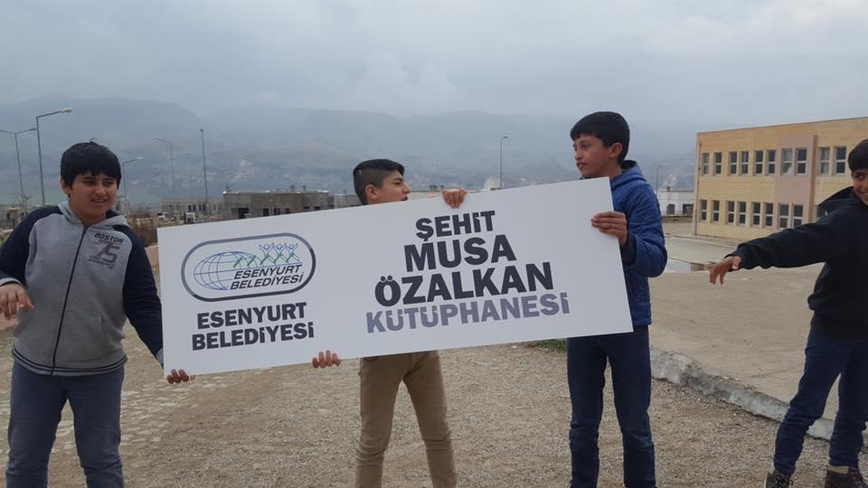 """Batman HasanKeyf İmam Hatip Ortaokulu Afrin Şehidimiz """"Musa ÖZALKAN"""" Kütüphanesi"""